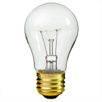 15 Watt - A15 Incandescent Light Bulb - Clear - Medium Brass Base - 130 Volt - Halco 6013