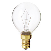 40 Watt - G14 Globe - Clear - European Base - 1,000 Life Hours - 368 Lumens - 130 Volt