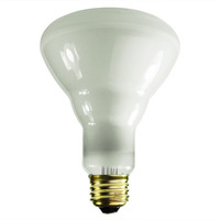 65 Watt - BR30 Incandescent Light Bulb - Frosted - Medium Base - 130 Volt - PLT 80397