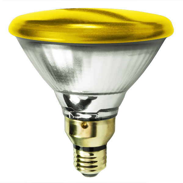 Satco 106586 - 100 Watt - PAR38 - Incandescent Reflector - Yellow Image