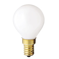 40 Watt - G14 Globe - White - European Base - 1,000 Life Hours - 320 Lumens - 130 Volt