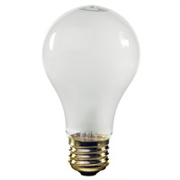 25 Watt - A19 Incandescent Light Bulb - Frosted - Medium Brass Base - 24 Volt - PLT IN-0025A19FR24V