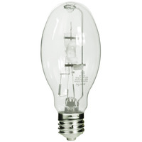 175/150 Watt - ED28 - Metal Halide - Replaces 175 Watt MH - Unprotected Arc Tube - 4000K - ANSI M57 or M107/E - Mogul Base - Universal Burn - MVR150/U/WM - GE 13481