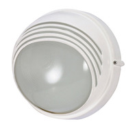 Nuvo 60-520 (1 Light) Round Hood Bulk Head - Semi Gloss White/Frosted