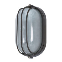 Nuvo 60-525 (1 Light) Oval Cage Bulk Head - Architectural Bronze/Frosted Glass