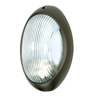 1 Light - Large Oval Bulk Head - Architectural Bronze/Frosted Glass - Nuvo 60-527