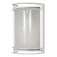 1 Light - Rectangle Bulk Head - Semi Gloss White/Frosted - Nuvo 60-530