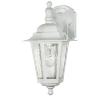 Nuvo 60-988 (1 Light) (Arm Down) Wall Lantern - White/Clear Seed Glass
