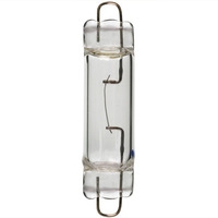 10 Watt - T3.25 - Rigid Loop Base - Xenon - Clear - 20,000 Life Hours - 100 Lumens - 12 Volt