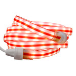 Ribbon Candy Cane - Flat Rope Light Image