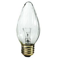 25 Watt - F15 - Clear - Wrinkled Glass - 3,000 Life Hours - 140 Lumens - 130 Volt