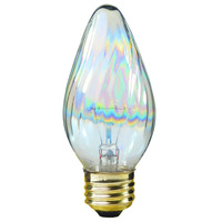 40 Watt - F15 - Aurora Colored Glass - 1,500 Life Hours - 420 Lumens - 120 Volt