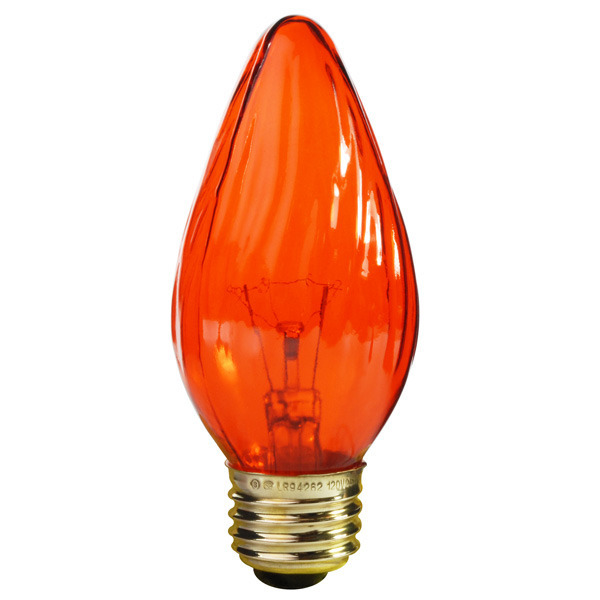 Satco S3366 25 Watt F15 Light Bulb Amber