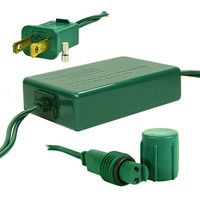 32 in. - Plug Adapter - LED Commercial - Green Wire - Rectified - Powers 125 Non-Rectified Strings