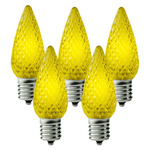 25 Pack - C9 - LED - Yellow - Faceted Finish Image