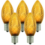 25 Pack - C9 - LED - Amber-Yellow - Faceted Finish Image