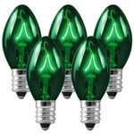25 Pack - C7 - Transparent Green - 5 Watt Image