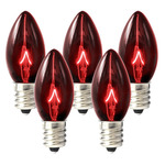25 Pack - C7 - Twinkling Transparent Red - Double Dipped - 7 Watt Image
