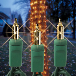 Clear - 120 Volt - 150 Bulbs - 6 ft. x 12 in. - Green Wire - Christmas Tree Trunk Wrap Lights - HLS TRUNK8CLRG