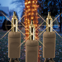 (150) Bulbs - Clear Tree Trunk Wrap Lights - 7.5 ft. x 2 ft. - Brown Wire - 120V