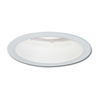 4 in. - Stepped White Baffle with White Ring - PLT NS-40