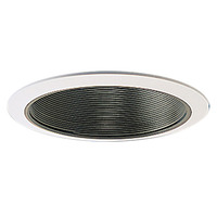 Nora NS-41 - 4 in. - Stepped Black Baffle with White Ring