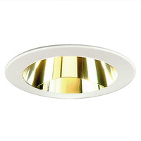 4 in. - Gold Reflector with White Ring - Nora NS-42