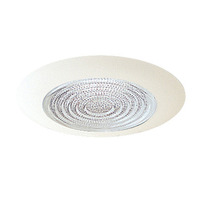6 in. - White Fresnel Shower Trim - Nora NT-23