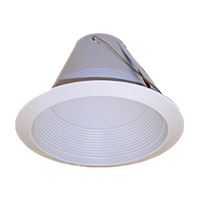6 in. - White - Airtight Baffle Lensless Shower Cone - PLT PTM726W
