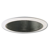 6 in. - Black Stepped Baffle with Oversized Ring - PLT PTM40/OV