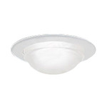 Nora NT-5050W - White Dome Shower Trim Image