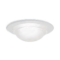 Nora NT-5050W - 5 in. - White Dome Shower Trim with Reflector