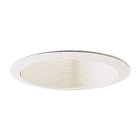6 in. - White Stepped Baffle with White Trim - Nora NTM-31