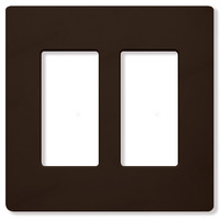 Brown - Screwless - 2 Gang - Decorator Wall Plate - Lutron Claro CW-2-BR