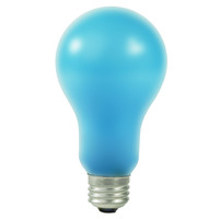 Ushio 1000264 - EBW - Photography Lighting - PS25 - Photoflood - Blue Frosted - 500 Watt - 115-125 Volt - Medium Base - 4800K