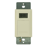 Digital In-Wall Timer Switch - Single Pole or 3-Way - Light Almond - 40 On/Off Operations Per Week - Intermatic EI600LAC