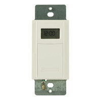 Intermatic EI600WC - In-Wall Decorator Time Switch - Digital 7-Day Astronomic - 40 On/Off Operations Per Week - Single Pole or 3 Way - White