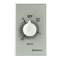 Intermatic FF15MC - Commercial Spring Wound Auto-Off Timer - 15 Min Time Cycle - SPST - Metal Finish