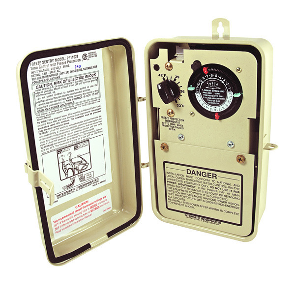 intermatic pf1102t ze protection control beige intermatic pf1102t timer w thermostat image