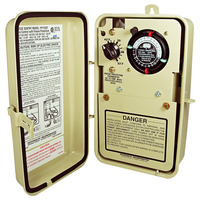 Intermatic PF1103T - Pool-Spa Freeze Protection Control - Single Circuit - Timer with Thermostat - Beige Finish - 120/240 Volt