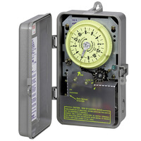Intermatic R8806P101C - Sprinkler-Irrigation Timer - 14-Day Skipper - NEMA 3R Raintight Plastic Case - DPST - 25 Amps - 208-277 Volt