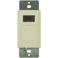 Intermatic ST01AC - Digital In-Wall Timer Switch - 40 On/Off Operations Per Week - Single Pole or 3-Way - Almond