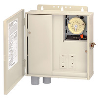 Pool Panel with (1) T104M Mechanism - Steel Case - Beige Finish - 300 Watt Transformer - Intermatic T10004RT3
