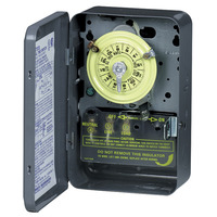 Intermatic T101 - 24 Hr. Dial Time Switch - NEMA 1 Indoor Steel Case - Gray Finish - SPST - 40 Amps - 125 Volt