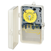 Intermatic T101P3 - Pool-Spa Mechanical Time Switch - NEMA 3R Raintight Plastic Case - Beige Finish - SPST - 40 Amps - 120 Volt