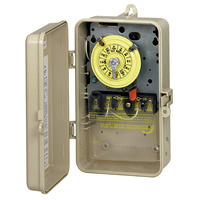 Intermatic T104P3 - Pool-Spa Mechanical Time Switch - NEMA 3R Raintight Plastic Case - Beige Finish - DPST - 40 Amps - 208-277 Volt