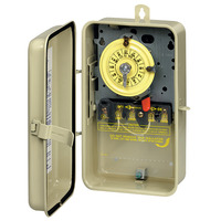 Mechanical Pool-Spa Time Switch - Raintight Steel Case - Beige Finish - 208-277 Volt - Intermatic T104R3