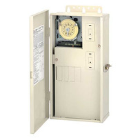 Intermatic T21004R- Pool-Spa Mechanical Control Panel - (1) T104M Mechanism - All-Weather Steel Case - Light Beige Finish - DPST - 40 Amps - 240 Volt