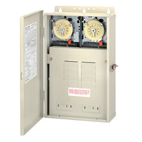 Intermatic T30404R - Pool-Spa Mechanical Control Panel - (2) T104M Mechanisms- Steel Case - Beige Finish - DPST-DPST - 100 Amps - 240-240 Volt
