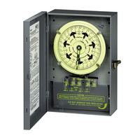 7-Day Mechanical Dial Time Switch - Steel Case - Gray Finish - 40 Amps per Pole - 125 Volt - Intermatic T7401B